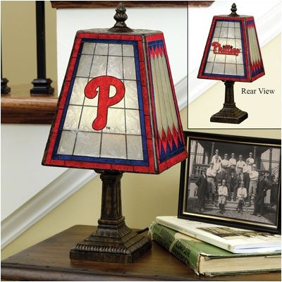Philadelphia Phillies 14-Inch Art Glass Lamp at Amazon.com