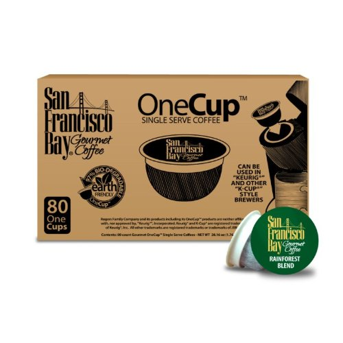 San Francisco Bay Coffee Organic Rainforest Blend, 80 OneCup Single Serve Cups