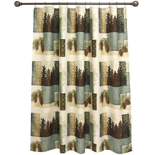 Bacova Guild Westlake Fabric Shower Curtain New Free