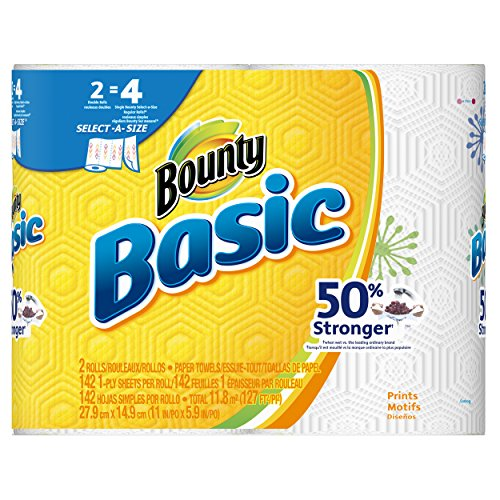 Bounty Paper Towels Fall Prints: Bounty Basic Double Roll Select-a-Size Paper Towels