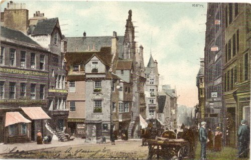1906 Vintage Postcard Street Scene in the Old