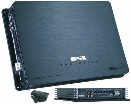 Ssl Ev4000D Evolution 4000-Watts Monoblock Class D 1 Channel 1 Ohm Stable Amplifier With Remote Subwoofer Level Control