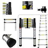 PRO 2.60 meter aluminium telescopic ladder - 9 steps - EN131 standards