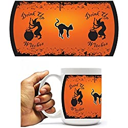 Halloween Coffee Mug - Drink Up Witches! - 15 Oz