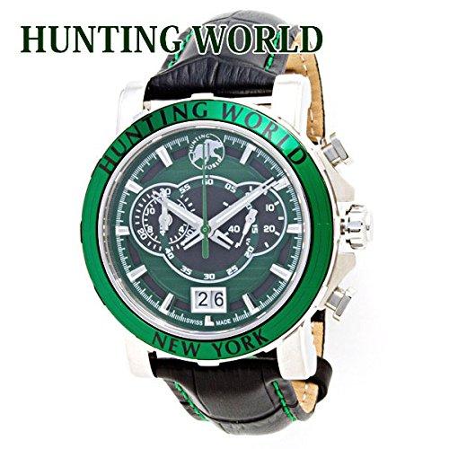 ハンティングワールド HUNTING WORLD 時計 腕時計 メンズ イリス アナログ表記 クロノグラフ グリーン HW913GR