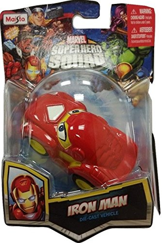 Iron Man Maisto Marvel Superhero Squad Die-Cast Vehicle Car Collection - 1