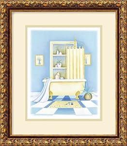 Blue Bathroom I Framed Art Print Posters Prints