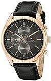 Tommy Hilfiger Men's 1791125 Sport Lux Analog Display Quartz Black Watch