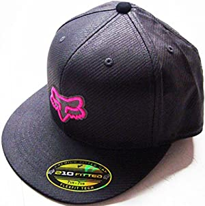 Fox Racing Neon Camo Gray/Black/Pink Flat Brim Flexfit Hat Small/Medium