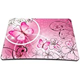 Pink Butterfly Anti-Slip Mouse Pad Mice Pad Mat Mousepad For Optical Laser Mouse MP-018