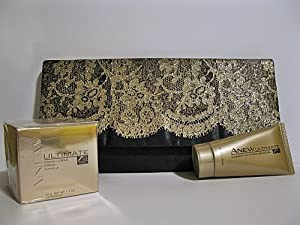 Avon 3-Piece Collection ANEW ULTIMATE 7S, Day Cream, Cleanser, Clutch Purse