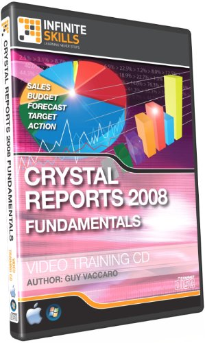 Infinite Skills Crystal Reports 2008 Fundamentals Tutorial - Video Training DVD