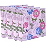 Origami 3 Ply Printed Party Napkin - Multi Colour Floral - 20 Napkins Per Pack - 4 Packs - Total 80 Napkins