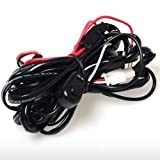 Kawell® Wiring Harness Include Switch Kit Car Auto Fog Lights Lamp Wire LED Off Road Wiring Kit 130w 40 Amp Relay