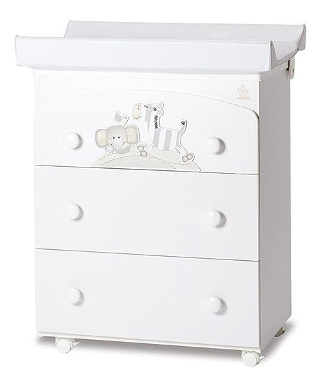 Italbaby Zerby Babybath cassettiera a 3cassetti, bianco