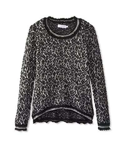 Velvet by Graham & Spencer Women's Feather Jacquard Sweater