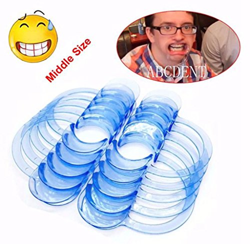 Usstore 10pcs C-Shape Blue Teeth Whitening Intraoral Cheek Lip Retractor Mouth Opener S M L (M)