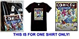 Free Comic Book Day 2017 Black Butch Hartman Commemorative T-Shirt Size L - Factory-Sealed UNCIRCULATED - RARE THE ONLY ONE ON AMAZON!