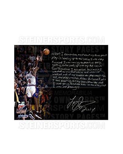 "Steiner Sports Memorabilia Larry Johnson Signed 4-Point Play Story Photo, Multi, 16"" x 20"""
