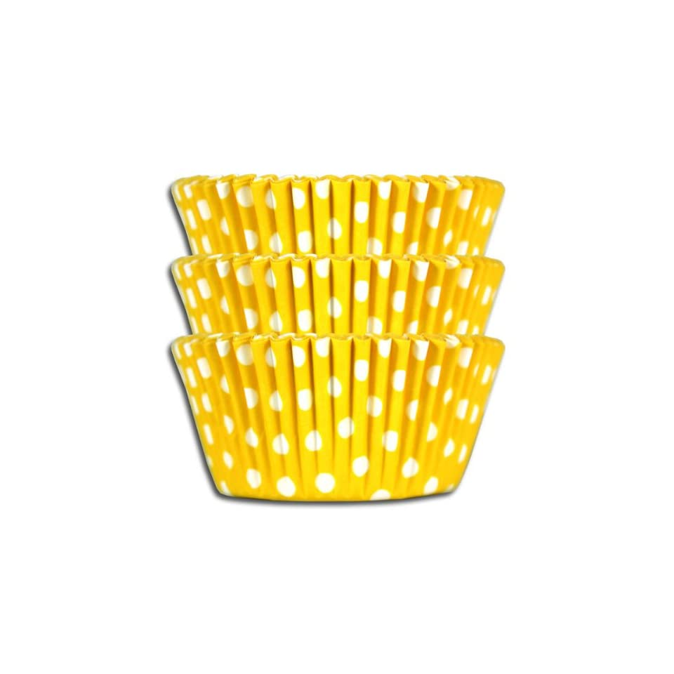 Yellow Polka Dot Baking Cups, Greaseproof 1000 Pack.
