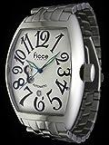 ficce (フィッチェ) 腕時計 自動巻 本格トノー型 メンズ メタル ウォッチ FC-11047 ホワイト