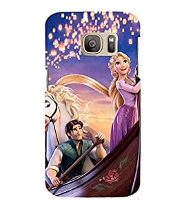 Printvisa Princess Sailing With The Prince Back Case Cover for Samsung Galaxy S7 edge::Samsung Galaxy S7 edge Duos with dual