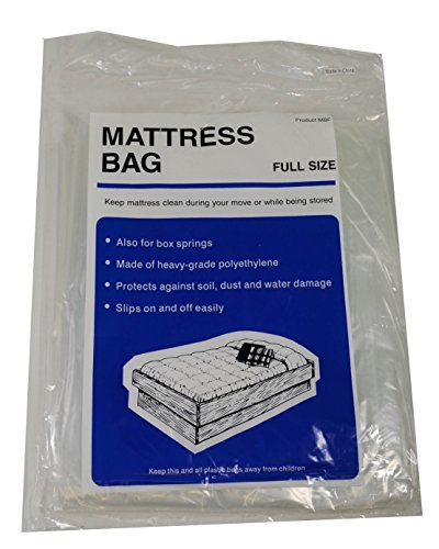 Lot Of 4 Mattress Bag Full Size Protect During Move Storage Clear Plastic