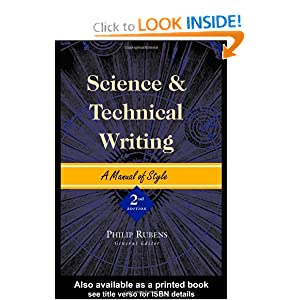 Science and Technical Writing: A Manual of Style (Routledge Study Guides) Philip Rubens