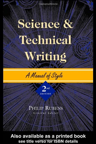 Science and Technical Writing: A Manual of Style