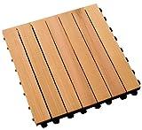 Woodway Deck Squares 10-Pack Doormat
