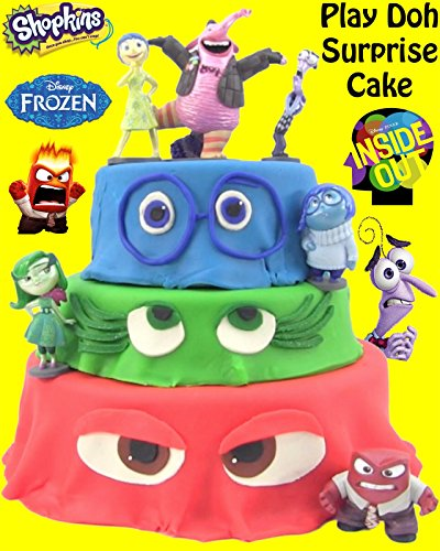HUGE Inside Out Play Doh Cake - Shopkins, Playmobil, LPS, MLP, Frozen Mystery Minis