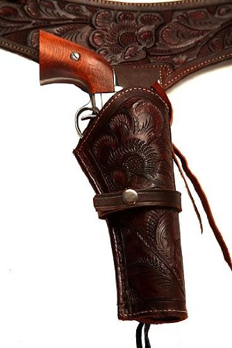 44/45 Caliber Brown Leather Gun Holster Size 40