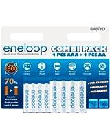 Sanyo eneloop Combipack HR-3UTGB-4UTGB-8BP (Pack de 8)