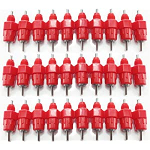 Ch1 20pcs Chicken Nipple Drinker Waterer Poultry Feeder 360° Degree Screw In