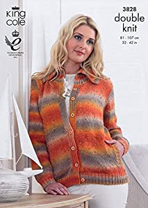 King Cole Knitting Pattern Stockists : King Cole Ladies Cardigan & Sweater Country Tweed DK Knitting Pattern 382...