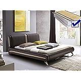 Polsterbett braun komplett Bett 180x200 + Lattenrost + Matratzen Singlebett Designerbett Malin Doppelbett