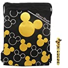 Disney Mickey Mouse Gold Drawstring Bag with Pen