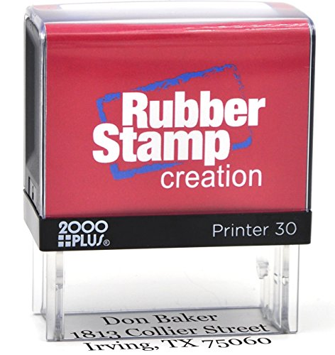 Custom 4-Line Self Inking Return Address Stamp - Up to 4-Line Stamp Many font choices and colors (Customized Return Address Stamp compare prices)