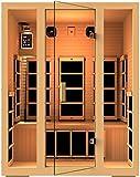 JNH Lifestyles Joyous 3 Person Canadian Hemlock Wood 8 Carbon Fiber Heaters 5 Year Warranty