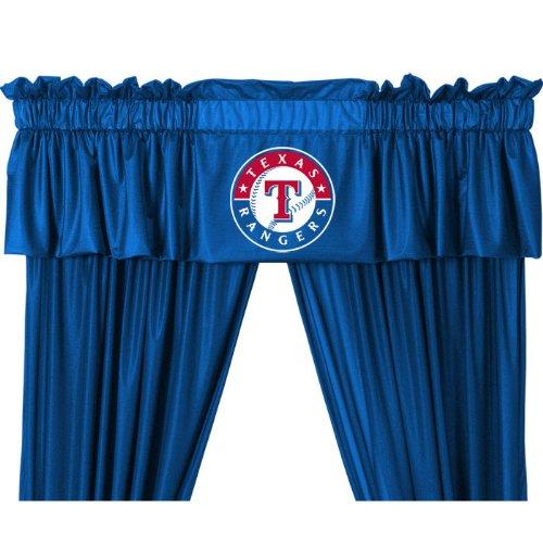 Mlb Texas Rangers 5Pc Long Curtain Drapes Valance Set front-844902