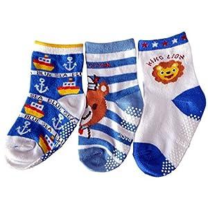 C2BB - El Lot de 3 calcetines antideslizante para niños