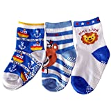 C2BB 3 pairs of boys anti slip baby socks children from 1 to 3 years old item 34