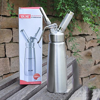 500ml Modern Cream Whipper/Stainless Steel and 2 Plastic Nozzles