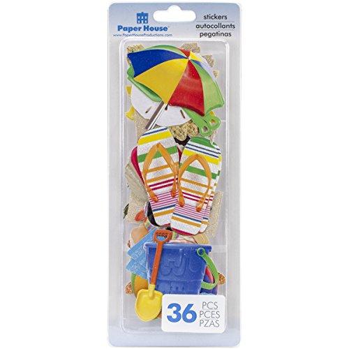 Paper House Die-Cut Stickers 36/Pkg-Fun Beach