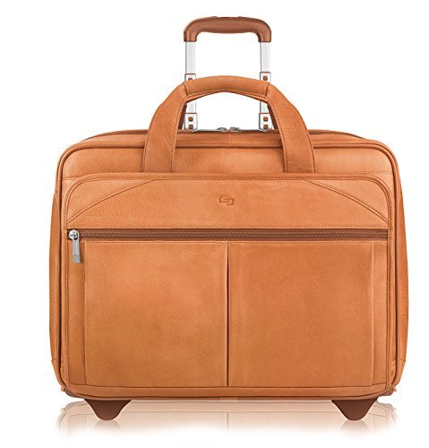 Solo Premium Leather 15.6 Laptop bag on wheels