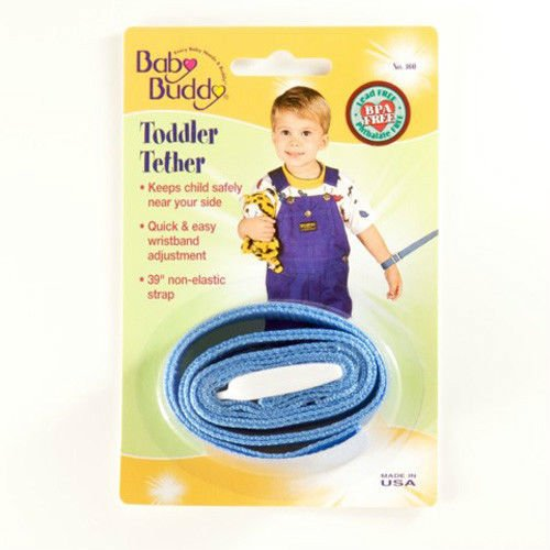 Baby Buddy Toddler Tether / Safety Wrist Leash / Wristband Strap - Baby Blue front-603611