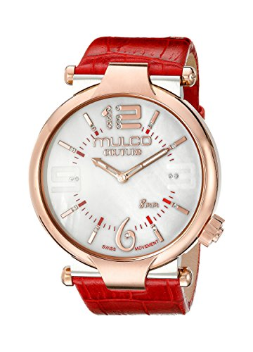Mulco Mujer MW5-3183-063-Couture Slim Analog Display Rojo de cuarzo suizo reloj