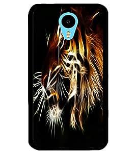 ColourCraft Tiger Look Design Back Case Cover for MEIZU M1 NOTE
