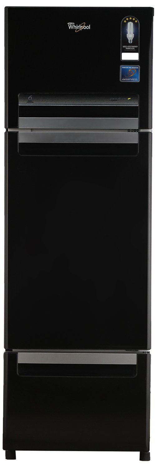 Whirlpool Fp 283D Royal Multi-door Refrigerator (260 Ltrs, Mirror Black) By Amazon @ Rs.27,699