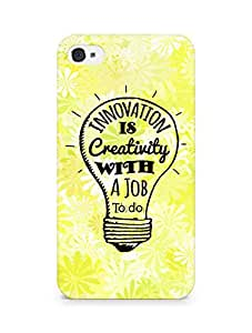 Amez Innovation is Creativity with a Job to do Back Cover For Apple iPhone 4s